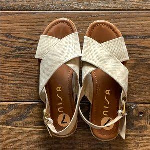 Women's Perforated Tan Sandal